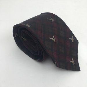 Polo Ralph Lauren Black Burgundy Men's Neck Tie